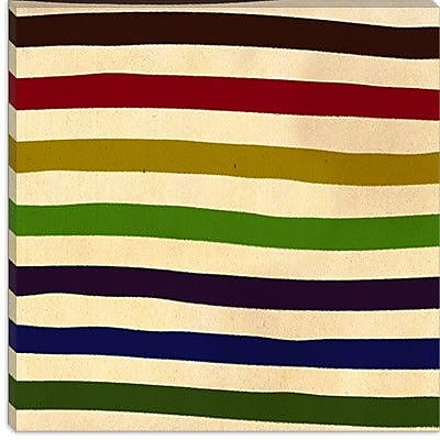 iCanvas Modern Earn Your Stripes Graphic Art on Canvas; 18'' H x 18'' W x 1.5'' D