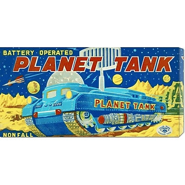 Global Gallery 'Planet Tank' by Retrotrans Vintage Advertisement on Wrapped Canvas