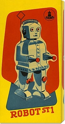 Global Gallery 'Robot ST1' by Retrobot Vintage Advertisement on Wrapped Canvas