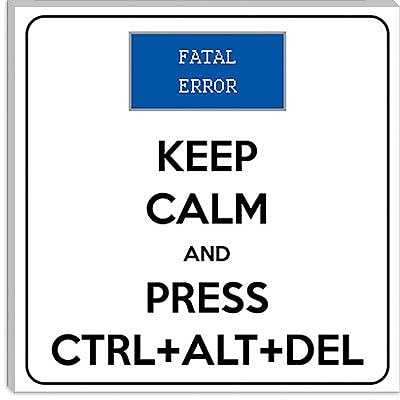 iCanvas Keep Calm and Press Ctrl Alt Del Textual Art on Canvas; 37'' H x 37'' W x 1.5'' D