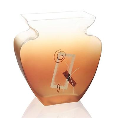 Womar Glass Geometric Glow Vase; 9'' H x 8.75'' W x 3.75'' D