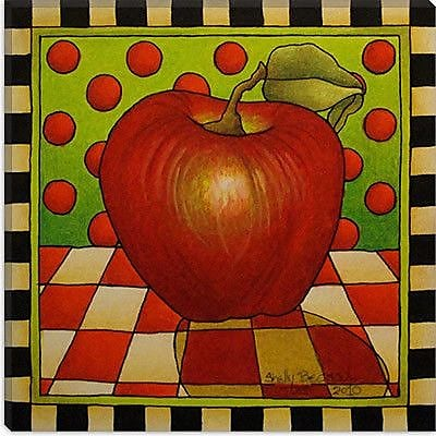 iCanvas Decorative ''Be Bop a Lula Apple'' by Shelly Bedsaul Painting Print on Canvas