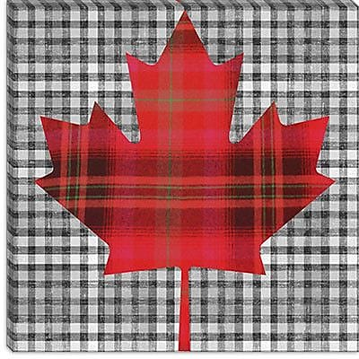 iCanvas Canadian Flag, Maple Leaf #8 Graphic Art on Canvas; 18'' H x 18'' W x 1.5'' D