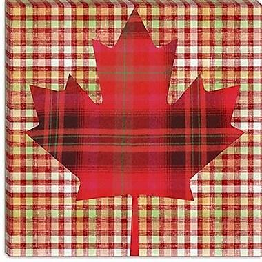 iCanvas Canadian Flag, Maple Leaf #9 Graphic Art on Canvas; 18'' H x 18'' W x 0.75'' D
