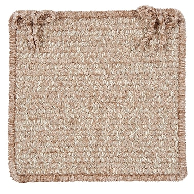 Colonial Mills Texture Woven Dining Chair Cushion (Set of 4); Buff Blend