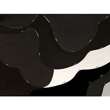 Carlyle Fine Art Abstract BW Drip No.2 by Jordan Carlyle Graphic Art; 54'' x 72''