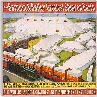 iCanvas Barnum & Bailey Circus Vintage Advertisement on Canvas; 26'' H x 26'' W x 0.75'' D