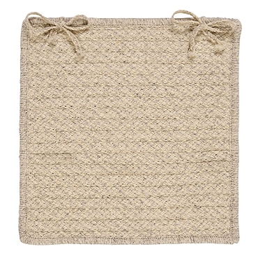 Colonial Mills Natural Wool Houndstooth Dining Chair Cushion; Cream