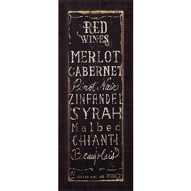 Art Effects 'Red Wines' by Luis Sanchez Framed Textual Art