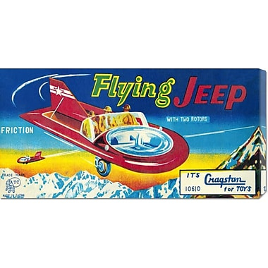 Global Gallery 'Flying Jeep' by Retrorocket Vintage Advertisement on Wrapped Canvas