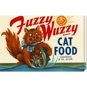 Global Gallery 'Fuzzy Wuzzy Brand Cat Food' by Retrolabel Vintage Advertisement on Wrapped Canvas