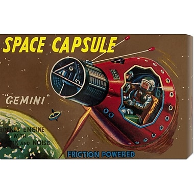 Global Gallery 'Space Capsule Gemini' by Retrorocket Vintage Advertisement on Wrapped Canvas