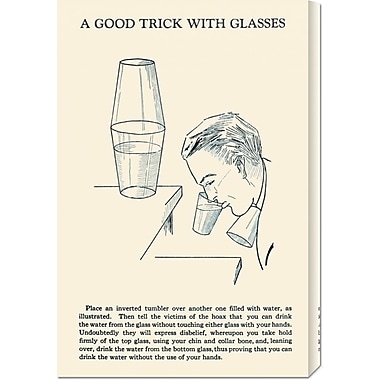 Global Gallery 'A Good Trick w/ Glasses' by Retromagic Vintage Advertisement on Wrapped Canvas