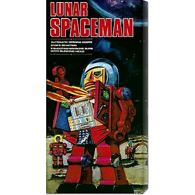 Global Gallery 'Lunar Spaceman' by Retrobot Vintage Advertisement on Wrapped Canvas