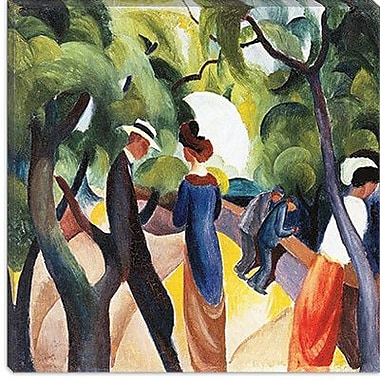 iCanvas ''Promenade'' by August Macke Painting Print on Canvas; 18'' H x 18'' W x 0.75'' D