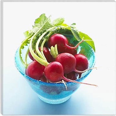 iCanvas Food and Cuisine Radish in a Bowl Photographic Print on Canvas; 18'' H x 18'' W x 0.75'' D
