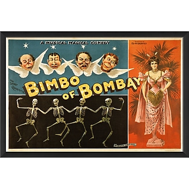 The Artwork Factory Bimbo of Bombay Framed Vintage Advertisement