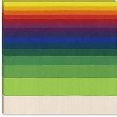 iCanvas Modern Striped Horizon Graphic Art on Canvas; 12'' H x 12'' W x 1.5'' D