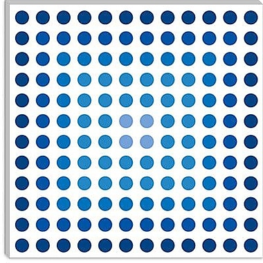 iCanvas Modern ''Faded Navy Dots'' Graphic Art on Canvas; 37'' H x 37'' W x 0.75'' D
