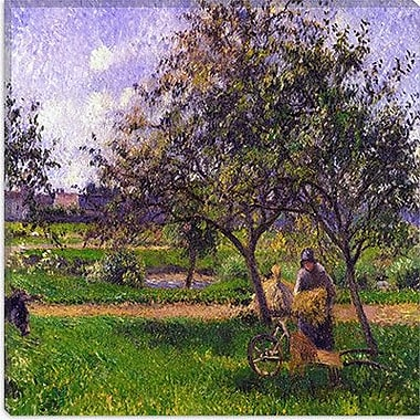 iCanvas ''The Wheelbarrow'' by Camille Pissarro Painting Print on Canvas; 18'' H x 18'' W x 1.5'' D