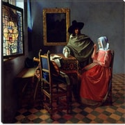 iCanvas ''The Wine Glass'' by Johannes Vermeer Painting Print on Canvas; 37'' H x 37'' W x 0.75'' D
