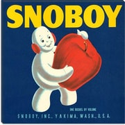 iCanvas Poster Snoboy Apples Crate Label Vintage Advertisement on Canvas; 18'' H x 18'' W x 1.5'' D