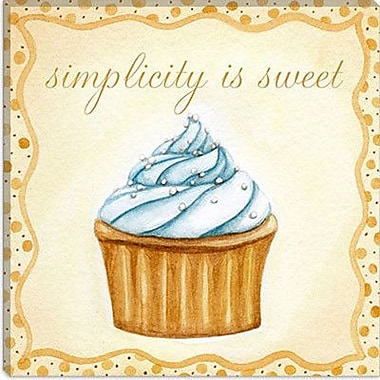 iCanvas ''Vanilla Cupcake'' by Jennifer Nilson Graphic Art on Canvas; 12'' H x 12'' W x 0.75'' D
