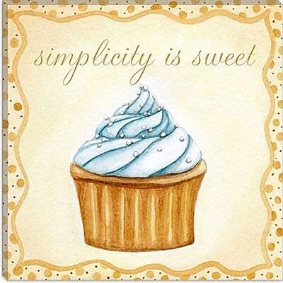 iCanvas ''Vanilla Cupcake'' by Jennifer Nilson Graphic Art on Canvas; 26'' H x 26'' W x 1.5'' D