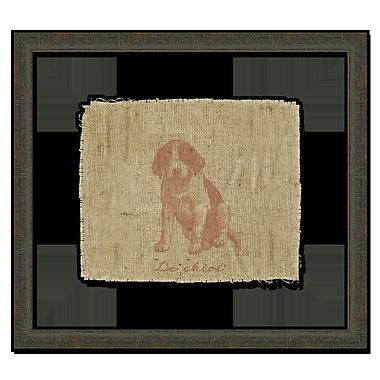 Melissa Van Hise Dog II Framed Graphic Art; Sienna