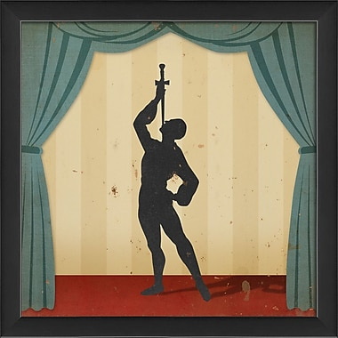 The Artwork Factory Stage Circus Performers Sword Swallower Framed Graphic Art