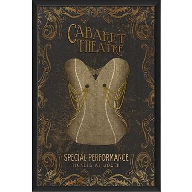 The Artwork Factory Corsets Cabaret Theatre Framed Vintage Advertisement