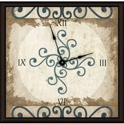 Green Leaf Art Circular Stems 16'' Art Wall Clock