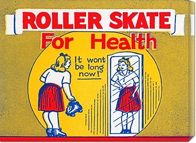 Global Gallery 'Roller Skate for Health' by RetroRollers Vintage Advertisement on Wrapped Canvas