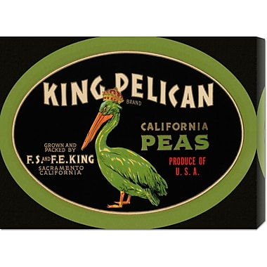 Global Gallery 'King Pelican California Peas' by Retrolabel Vintage Advertisement on Wrapped Canvas