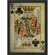The Artwork Factory King of Clubs Framed Graphic Art