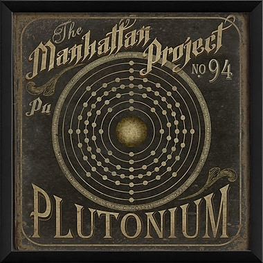 The Artwork Factory Manhattan Project No 94 Plutonium Framed Graphic Art