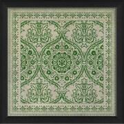 The Artwork Factory Tile 9 Framed Graphic Art; Green