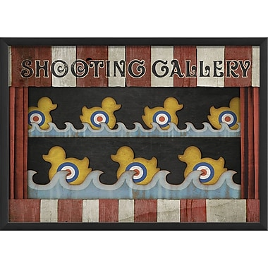 The Artwork Factory Shooting Gallery Framed Graphic Art