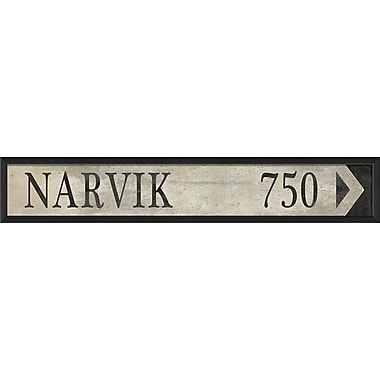 The Artwork Factory Sign Narvik Framed Textual Art