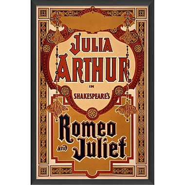 The Artwork Factory Romeo and Juliet Framed Vintage Advertisement