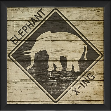 The Artwork Factory Elephant Xing Framed Graphic Art