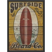 The Artwork Factory Surfside Board Framed Vintage Advertisement