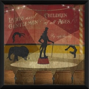 The Artwork Factory Under The Big Top Part 2 Framed Graphic Art; Red