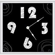 Green Leaf Art Lines 16'' Art Wall Clock