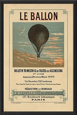 The Artwork Factory Le Ballon Framed Vintage Advertisement
