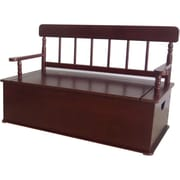 Levels of Discovery Simply Classic Children's Bench w/ Storage Compartment; Cherry