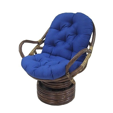Blazing Needles Lounge Chair Cushion; Jacquard Chenille - Bordeaux