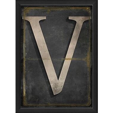 The Artwork Factory Letter V Framed Textual Art