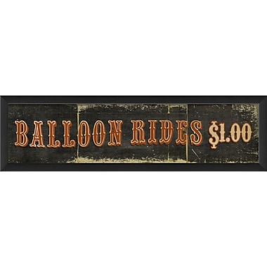 The Artwork Factory Balloon Rides $1 Framed Textual Art