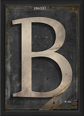 The Artwork Factory Letter B Framed Textual Art